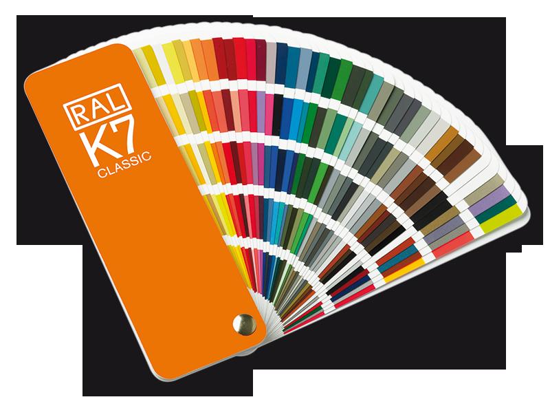RAL kleuren kaart