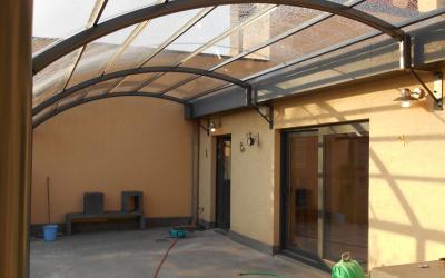 AC Systems glas helder carport overkapping gebogen