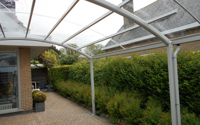 AC Systems rond glas helder terras overkapping