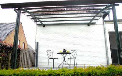 AC Systems terras overkapping glas helder