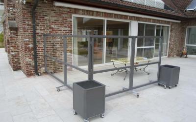 AC Systems bloembak windscherm verplaatsbaar