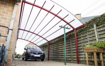 AC Systems carport schaduwgevend gebogen
