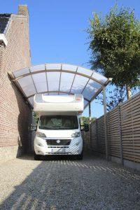 AC Systems schaduwgevend carport mobilhome goot