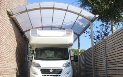 AC Systems | Schaduwgevende ronde carport voor mobilhomes