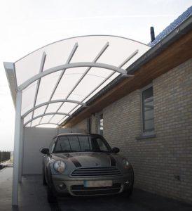 AC Systems ronde carport via goot schaduwgevend
