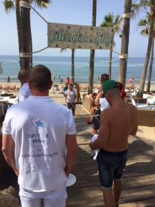 Een perfect geplaatste overkapping doe je met een excellent dreamteam ! Teambuilding 2018 editie Marbella