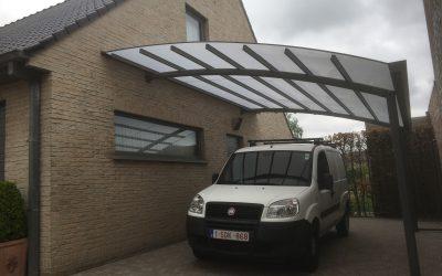 AC systems carport met opaal dakbedekking
